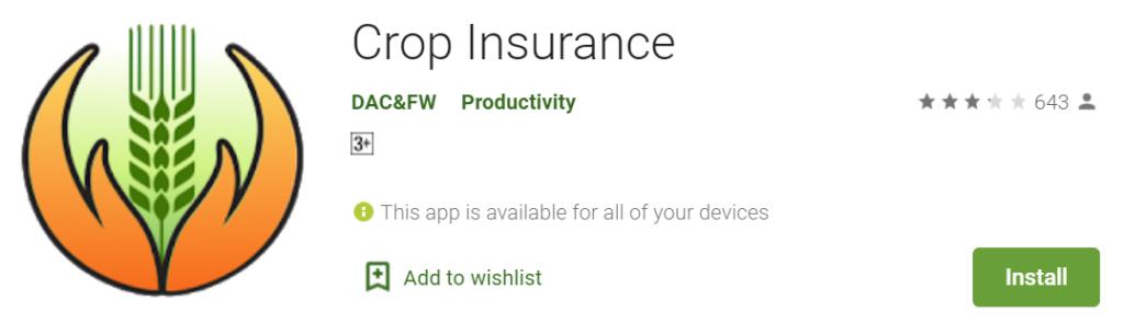 Install crop insurance app