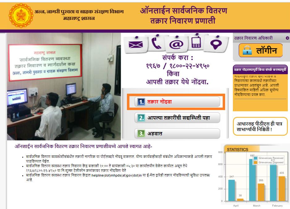 Maharashtra RC report complaint form