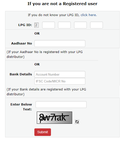 Hp GAs non registered user subsidy