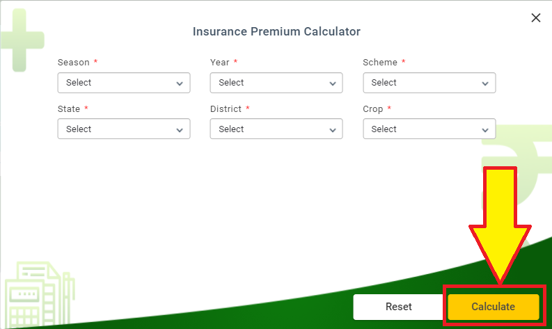 PMFBY insurance Premium calculator