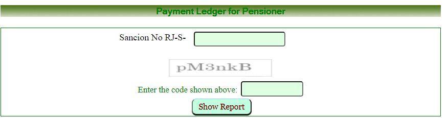Rajasthan social security Pensioner sanction status