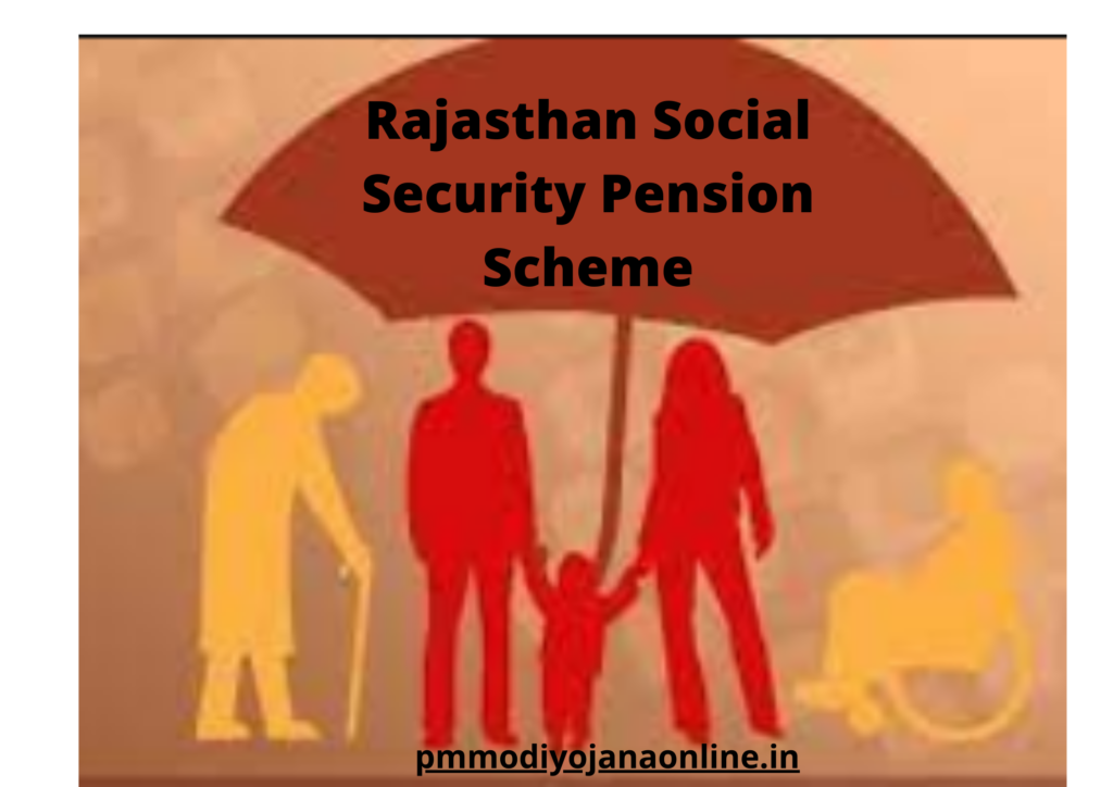Rajasthan Social security pension scheme RAJSSP