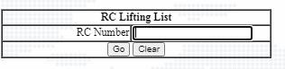 Ration card lifting list