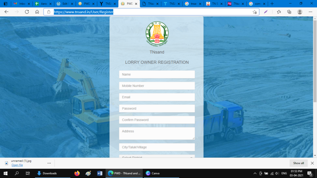 registration for lorry owners