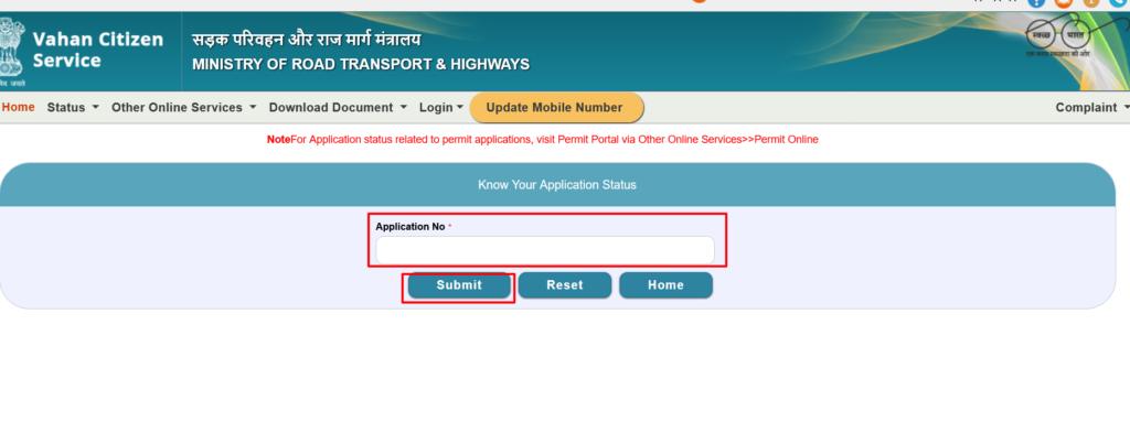 Vahan Parivahan Application Report