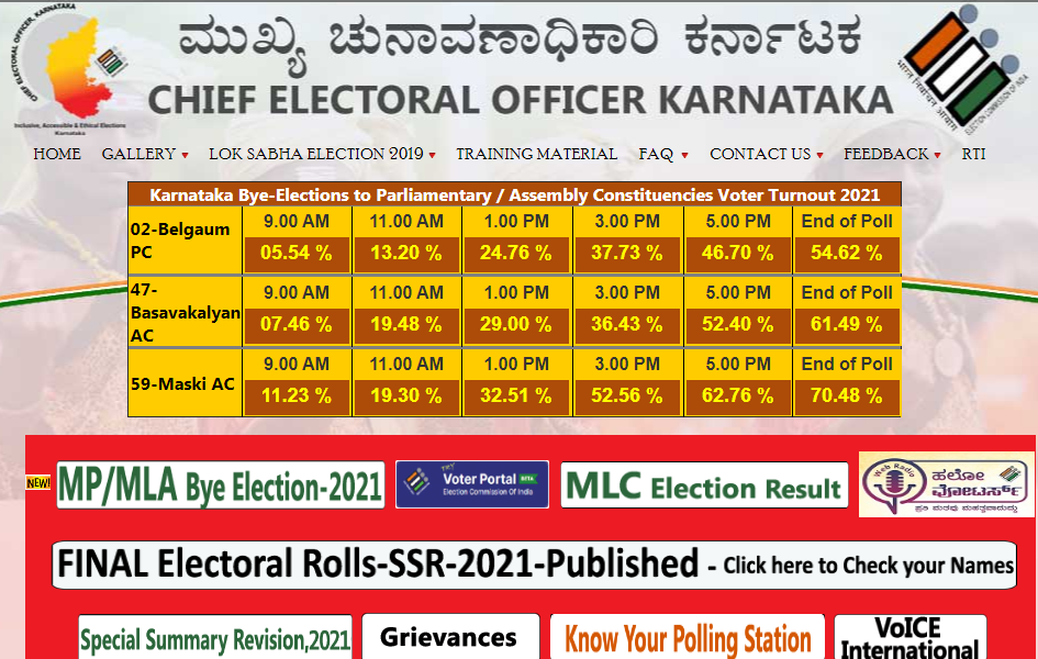 chief electoral officer homepage