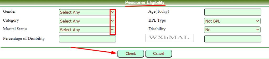 Rajasthan social security pensioner eligibility criteria
