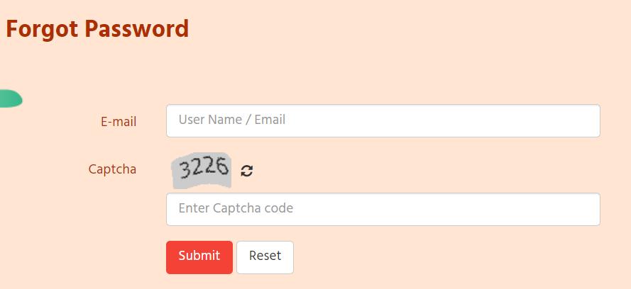 forgot password E-mandi login