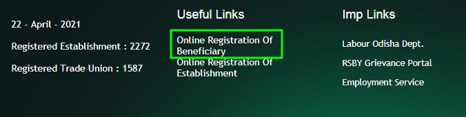 odisha labour welfare online link