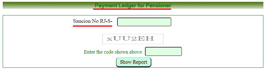 Rajasthan social security pensioner payment register