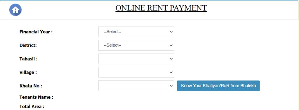Online rent Payment e-Pauti