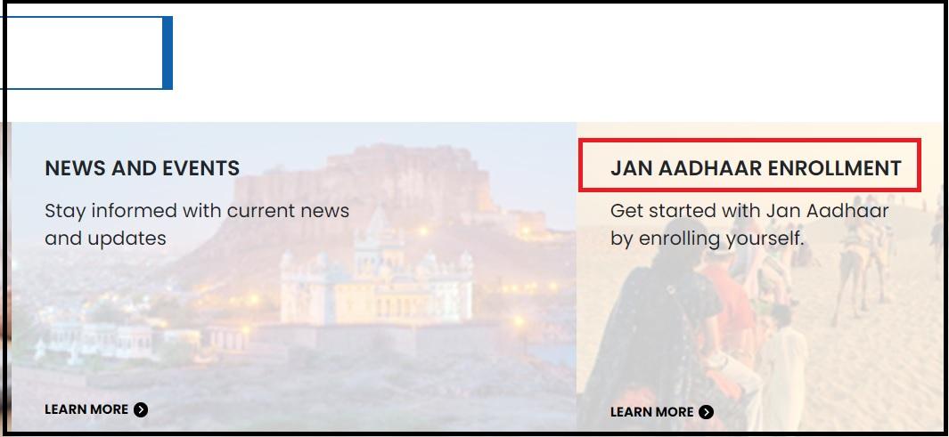 Rajasthan Jan Aadhaar Card Portal janaadhaar.rajasthan.gov.in