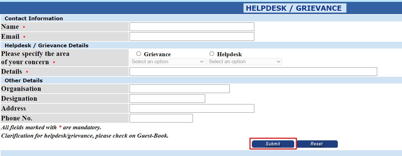 HELPDESK-GRIEVANCE