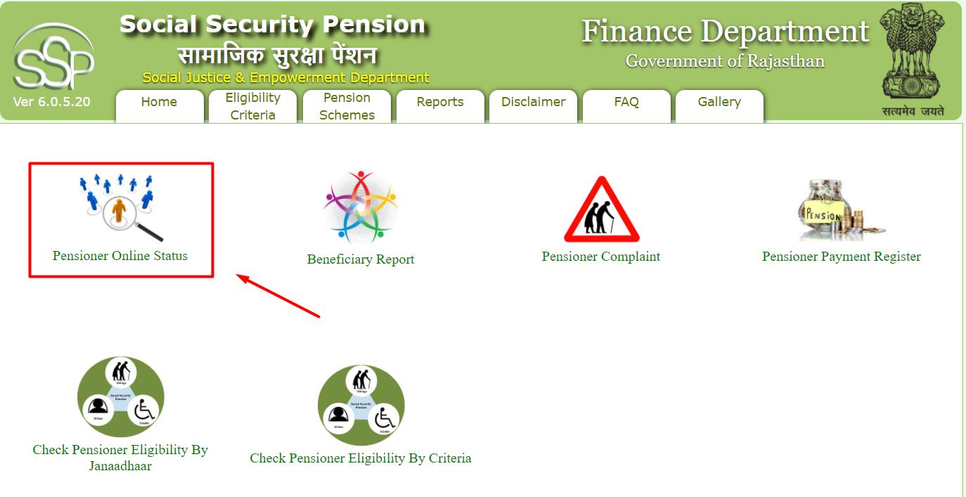pensioner status rajasthan